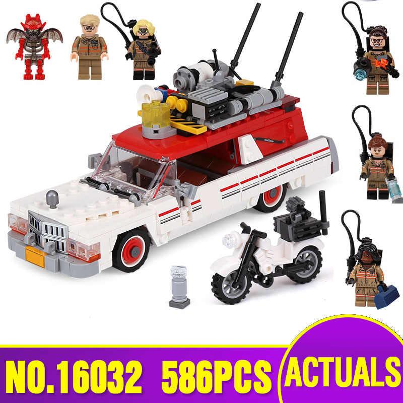 16032 genuino Serie di Film Il Ghostbusters Ecto-1 & 2 Set Bambini Educational Building Blocks Giocattoli Dei Mattoni Compatibile 75828