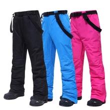 Spodnie narciarskie męskie i damskie na zewnątrz wysoko jakościowe wiatroodporne wodoodporne ciepłe spodnie zimowe zimowe spodnie snowboardowe marki tanie tanio MUTUSNOW WOMEN Poliester Mikrofibra COTTON Zipper fly CN (pochodzenie) Pełnej długości Skiing Pasuje prawda na wymiar weź swój normalny rozmiar