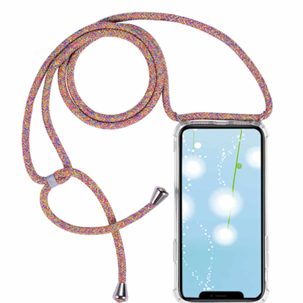 Nova caixa do telefone para o iphone 11 pro max xr xs max x xs crossbody colar cabo caso com corda para o iphone 6 7 plus 8 mais 5 5S se