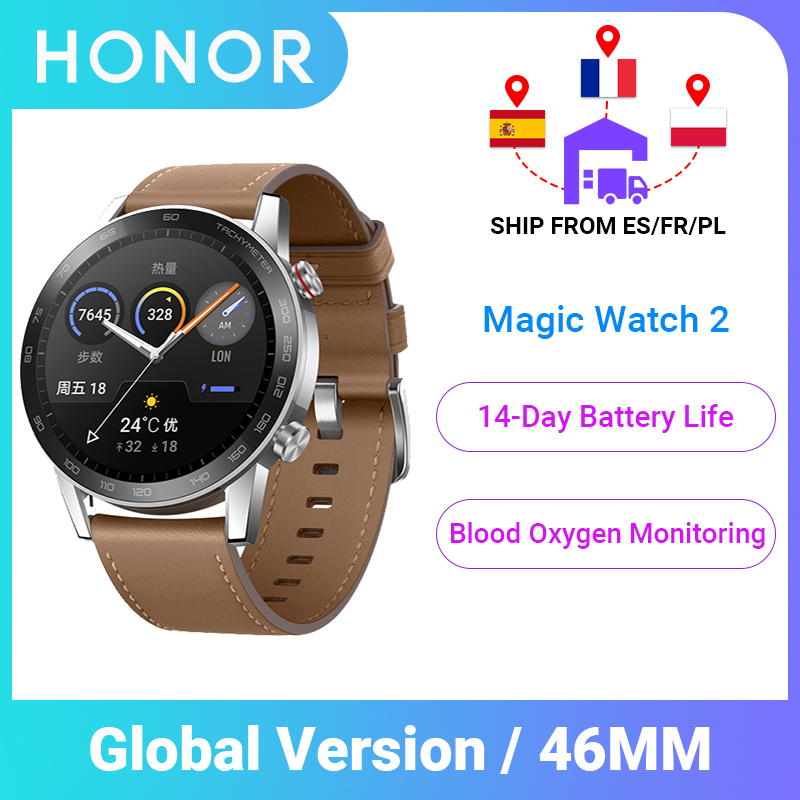 Global Version Honor Magic Watch 2 Smart Watch Blood Oxygen Tracker Smartwatch Phone Call Heart Rate Tracker For Android IOS