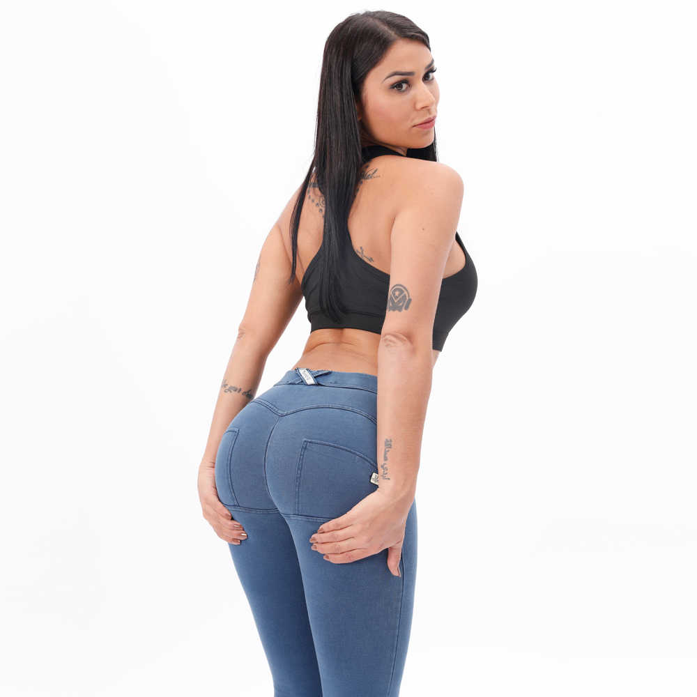 Melody Mid Taille Denim Wassen Jeggings Butt Lifting Knus Stretch Skinny Jeans Voor Vrouwen Super Comfortabele Push Up Jeans Vrouw