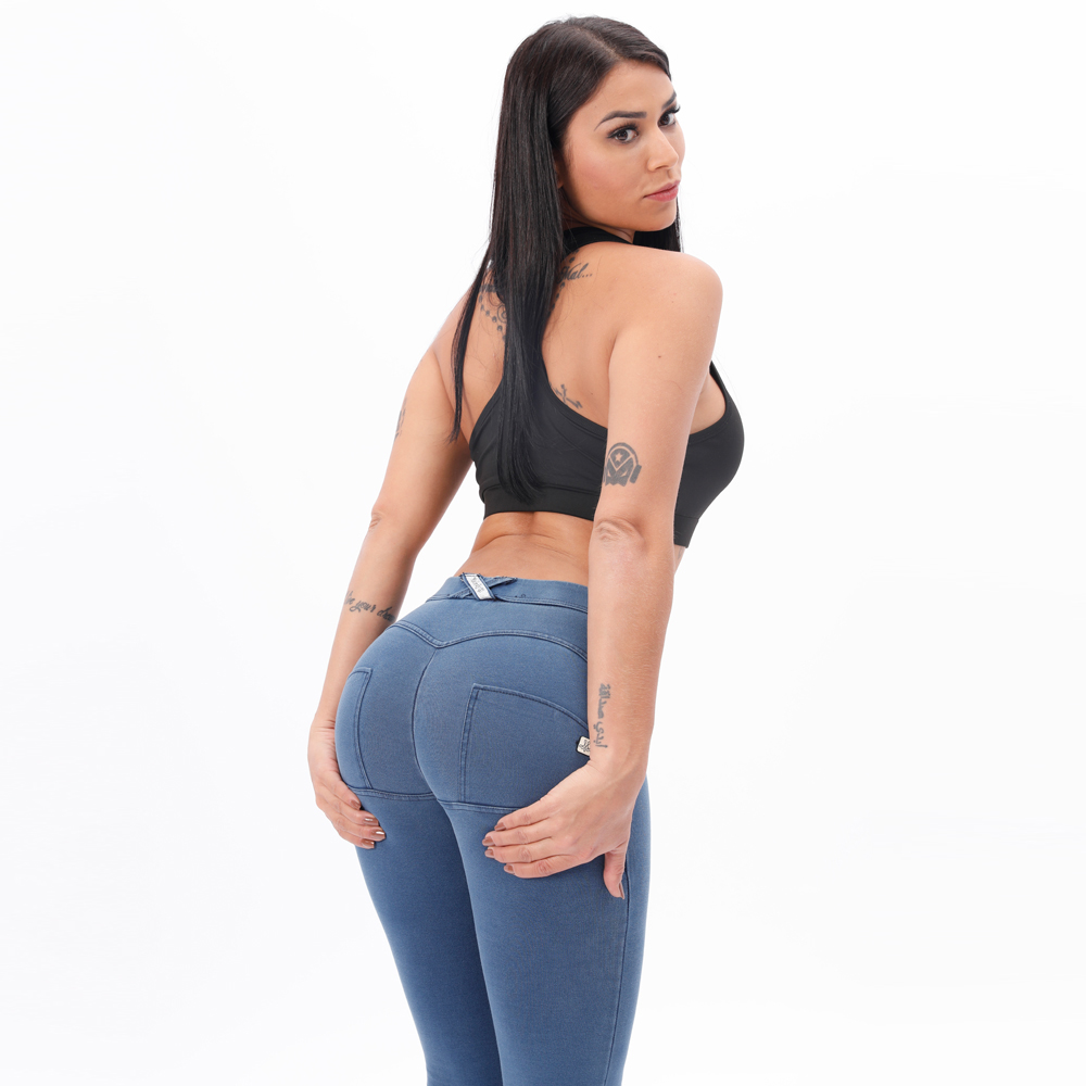 Melody Mid Waist Denim Wash Jeggings Butt Lifting Snug Stretch Skinny Jeans For Women Super Comfortable Push Up Jeans Woman