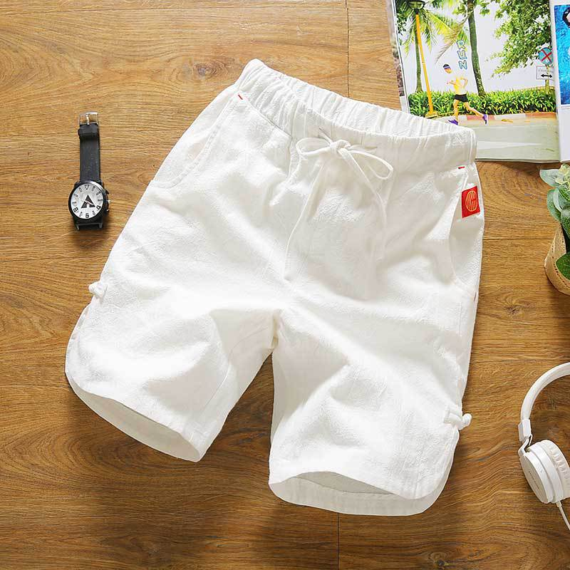 2019 Summer New Style Cotton Linen Shorts Men's Loose-Fit Shorts Beach Shorts Men's Linen Shorts