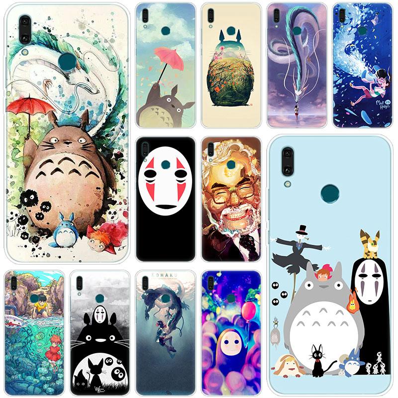Горячая аниме студия Ghibli Тоторо силиконовый чехол для телефона Huawei Mate 30 20 10 Lite Pro Y9 Y7 Y6 Prime Y5 2019 2018 Pro 2017 чехол