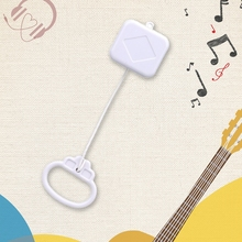 T5EC Pull String Cord Music Box White Infant Bed Bell DIY Gifts Accessories for Kids Baby Crib Music Box Party Supplies