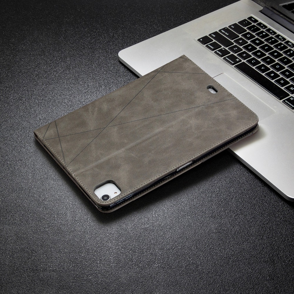 2020 Case Cover Silicone Soft With Leather For PU iPad 12.9 Wallet Holder Pro Back 2018