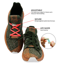 Shoelace clips with Magnet Locks.