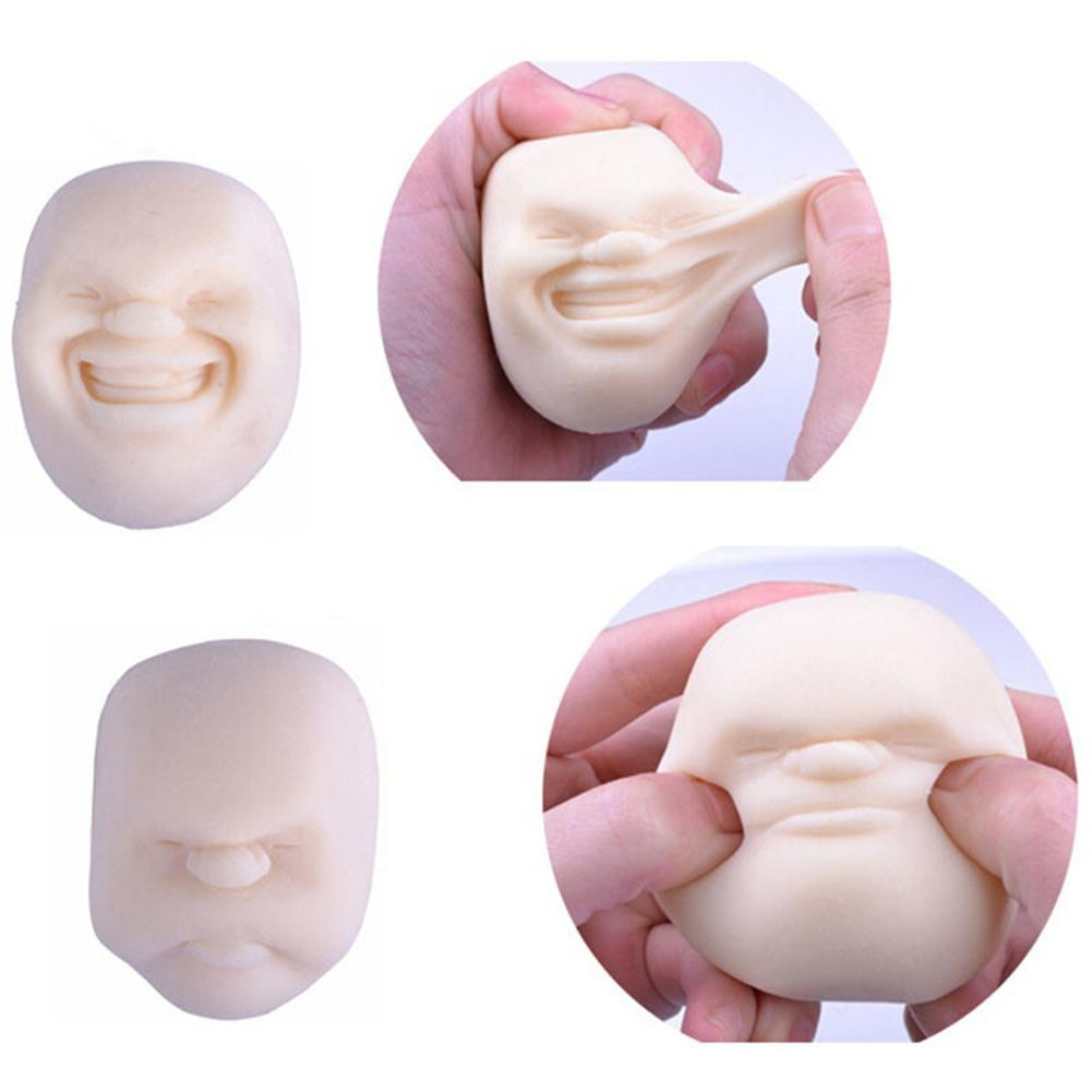 Squeeze Human Face Emotion Vent Ball Stress Relieve Adult Decompression Toy