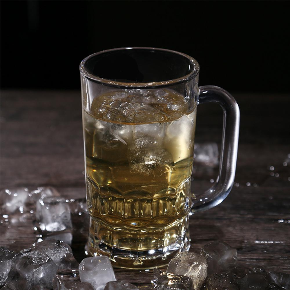 Crystal Beer Mugs Handle Mug Drinking Insulation Transparent Glass Tea Coffee Cup Drinkware Water Bottles Kitchen Accessories