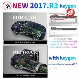 Image 2 - 2021 جديد VCI 2017.R3 كجن VD DS150E Cdp VD TCS CDP الموالية ل Delphis Obd2 سيارة شاحنة تشخيص أداة ماسحة + 8 قطعة كابلات السيارات