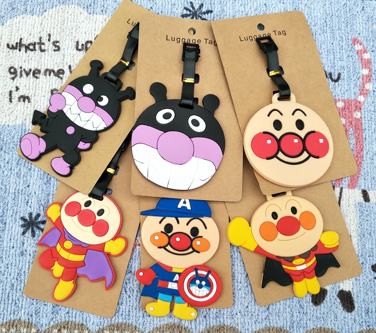 1pcs Anpanman Baikinman Anime Travel Brand Luggage Tag Suitcase ID Address Portable Tags Holder Baggage Label New