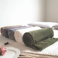 Autumn And Winter Travel Blankets Fluffy Bed Sofa Bedspread Blanket Fluffy Throw Blanket Striped Comfortable Cozy Blanket