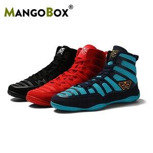Zapatos de lucha para hombre, calzado de boxeo profesional, zapatillas deportivas ligeras para culturismo, botas de lucha transpirables para entrenamiento
