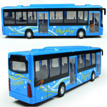 Simulation Bus Model Toy Children's Toys Vehicle 1:50 Alloy Air Conditioner Medium-sized Bus Toy School Bus Model