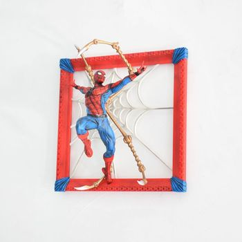 Anime 37cm Avengers: Infinity War Wall Hanging Spider Man Photo Frame A/B PVC Action Figure Collectible Model Toys Gift