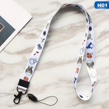 Cute Cartoon Pattern Lanyards for Keys ID Card Gym Mobile Phone Neck Straps USB ID Badge