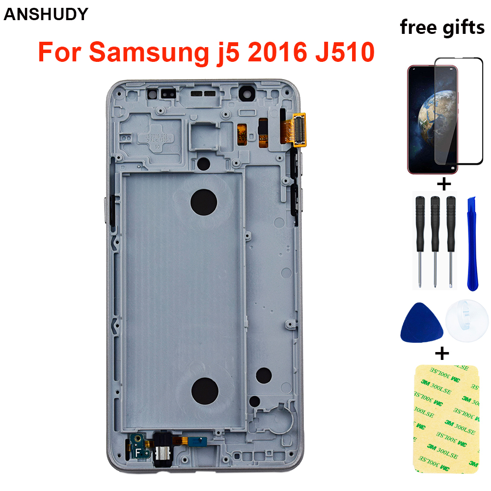 For <font><b>Samsung</b></font> Galaxy J5 2016 <font><b>J510</b></font> Display Touch Screen Digitizer Assembly For <font><b>Samsung</b></font> J510F <font><b>LCD</b></font> J510FN J510M J510Y J510G Frame image