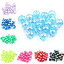 Boîte de perles rondes en acrylique Doreen, 8mm de diamètre, 300 pièces, rouge, bleu, jaune, arc-en-ciel AB Perle pour bricolage, résultats de fabrication de bijoux