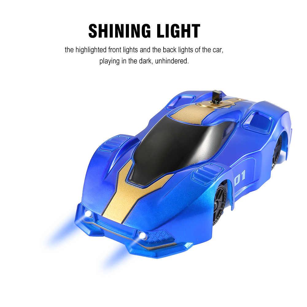 שלט רחוק מכונית עם LED אורות 360 תואר מיני קיר RC רכב 3 צבע אופנה טיפוס רכב צעצועים לילדים חג המולד מתנה