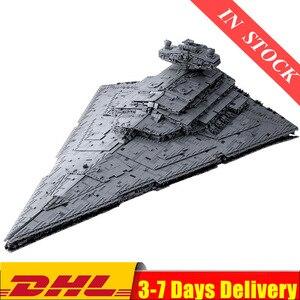 В наличии, модель серии King Star plan, модель MOC 13135, имперский Звездный Разрушитель UCS, набор бойцов, строительные блоки, 75252, детские игрушки, подар...