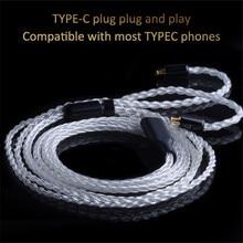 Кабель для наушников CABLETIME, hi fi провод для наушников, улучшенный провод, акустический сменный кабель типа c, обновленный провод для аудио OCC HIFI MMCX C302