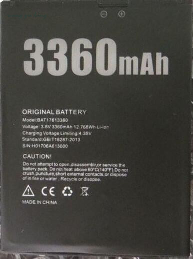 100% Original New DOOGEE <font><b>X30</b></font> <font><b>Battery</b></font> 3360mAh Replacement accessory accumulators For DOOGEE <font><b>X30</b></font> Smart Phone image