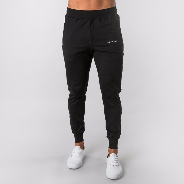 2019 New Style Mens ALPHALETE Jogger Sweatpants Man Gyms Workout Fitness Cotton Trousers Male Casual Fashion Skinny Track Pants 4