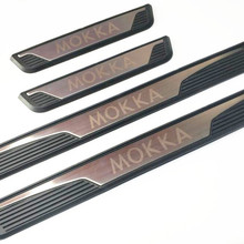 Авто наружная накладка, Накладка на порог для Opel mokka, 4 шт./лот, нержавеющая сталь
