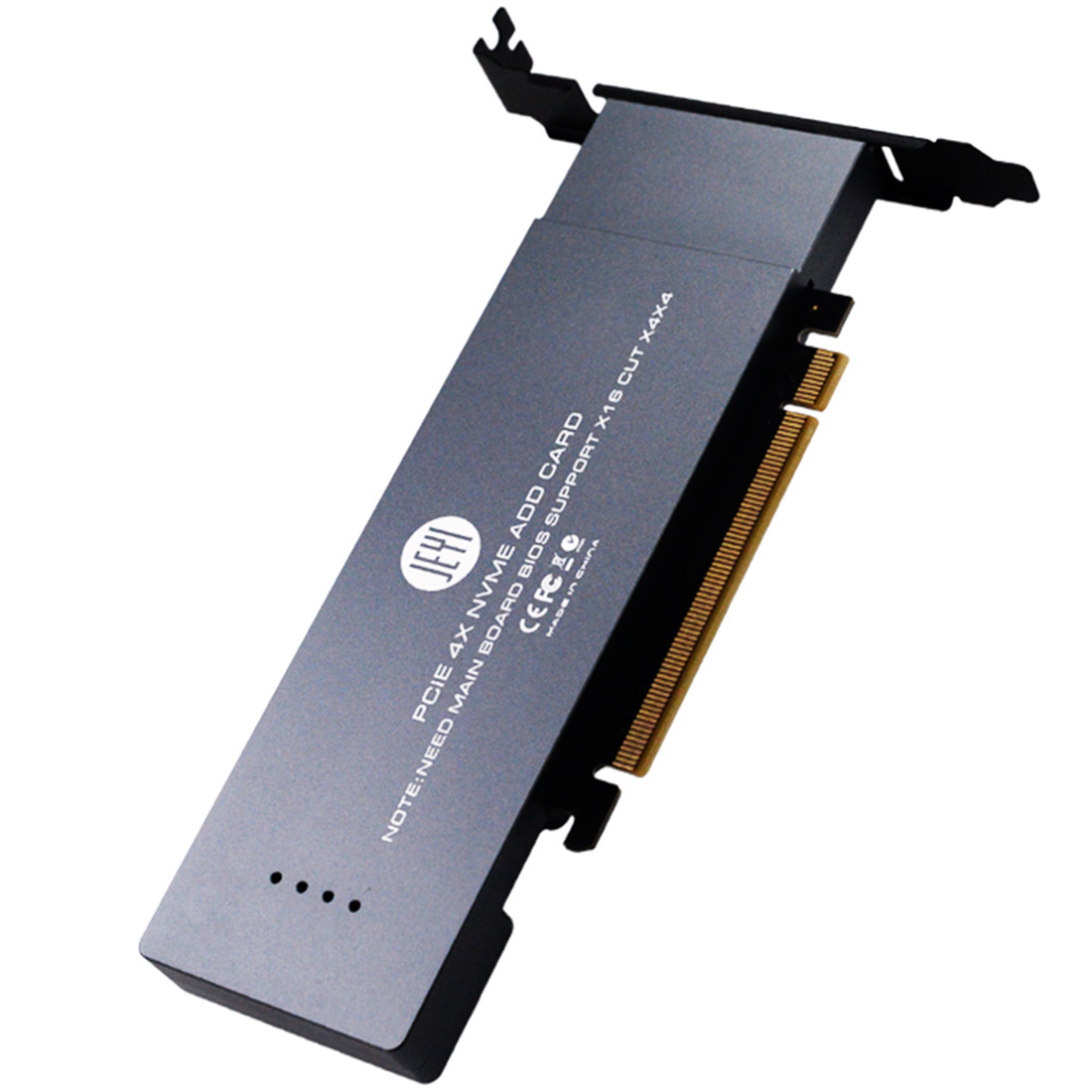 JEYI IHyper-Pro PCI-E M.2 X16 To 4X NVME PCIE 3.0 Disk GEN3 RAID Card PCI-E NVMEx4 Array Expansion Card Support 2U Chassis PC