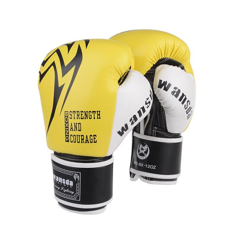 Haute qualité adultes gants De Boxe MMA Muay Thai Boxe De Luva mitaines Sanda équipements rose gant De Boxe pour les femmes