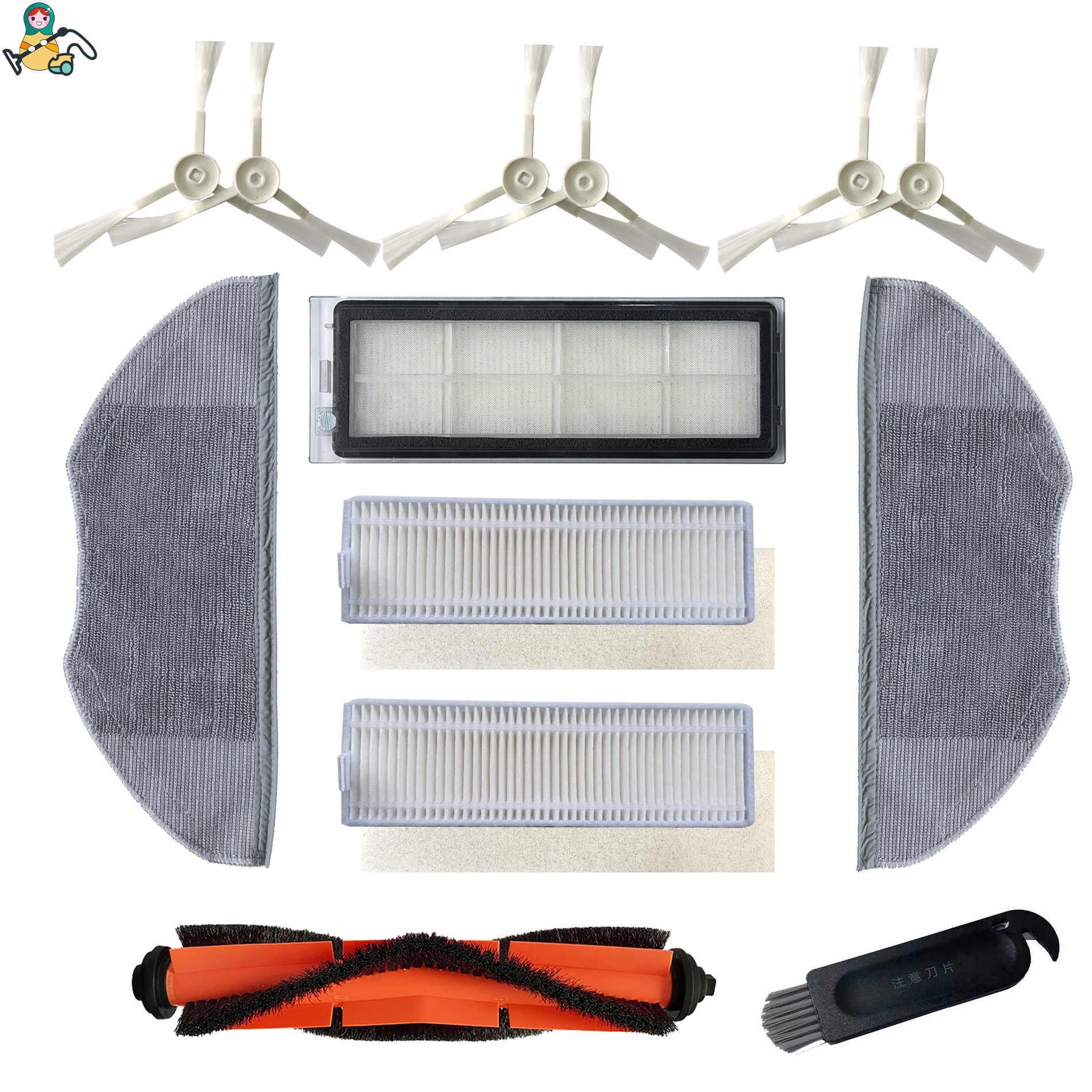 incluye cepillo de rodillo principal lateral triangular cepillo HEPA filtro trapeador pa/ño Juego de accesorios para aspiradora Xiaomi Mijia G1