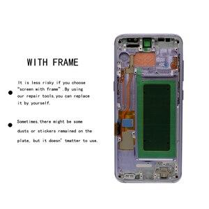 Image 3 - 5.8 המקורי S8 תצוגת מסך לסמסונג גלקסי S8 החלפת מסך מגע LCD Digitizer עצרת G950F G950 עם מסגרת
