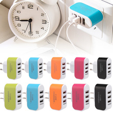 Wall Charger Station 3 Port USB Portable High Efficiency AC Power For Mobile Phone Travel XJ66
