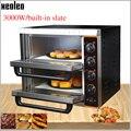 XEOLEO электрическая печь для пиццы печь для выпечки двухслойная коммерческая машина для производства хлеба с асбестовой доской 3000 Вт