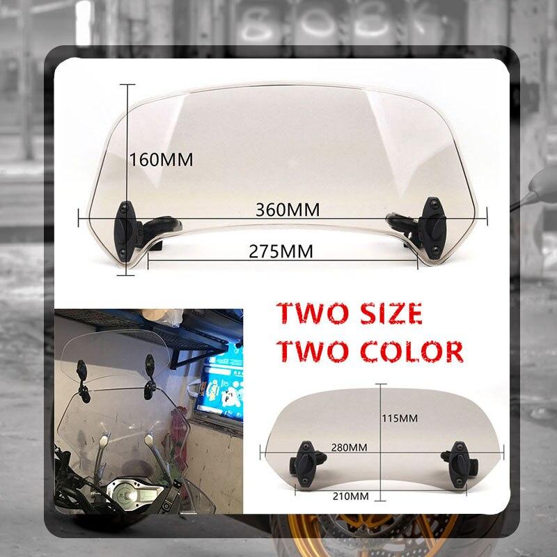 Déflecteur de vent réglable verrouillable pour SUZUKI SV650 SV650X SV1000 DL650 DL1000 v-strom B-KING, Extension de pare-brise