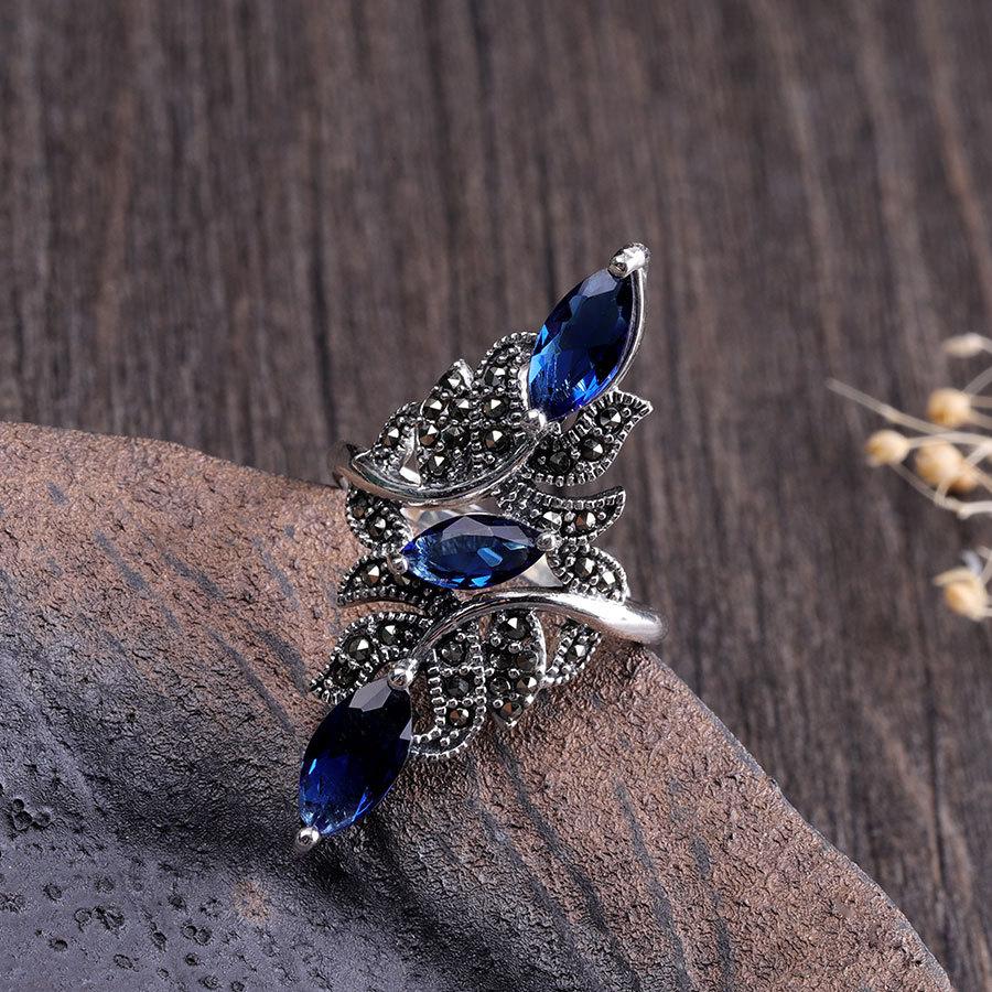 Classic Fashion Wedding Ring Exquisite Blue Zircon Female Ring 2020 Fashion New Wedding Jewelry New Year Gift