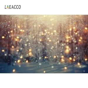 Image 4 - Laeacco doğum günü partisi Photophone ışık Bokeh Glitters Polka Dots bebek duş yenidoğan portre fotoğrafçılığı arka planında arka