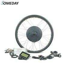 Толстый Снежный велосипед Электрический велосипед conversion kit 72V 3000W сзади повернуть non-Эпицентр деятельности шестерни двигателя колесом с KT LCD3 дисплей
