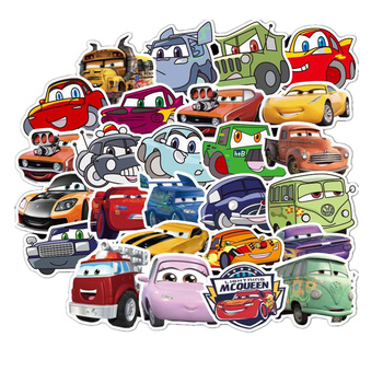 50 Pcs Disney Pixar Cars 2 3 Lightning McQueen Car stickers for Car Motorcycle Phone Travel Luggage Trolley Laptop Computer Toy image