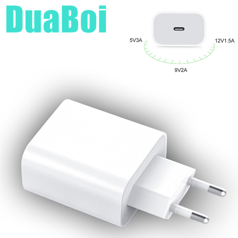 PD 20 Вт USB-C адаптер питания для зарядки электроники с разъемами стандартов США ЕС штекер QC4.0 18W смарт-телефон быстрое зарядное устройство для iPad Pro Air iPhone 12 11 Pro Max Xs X-1