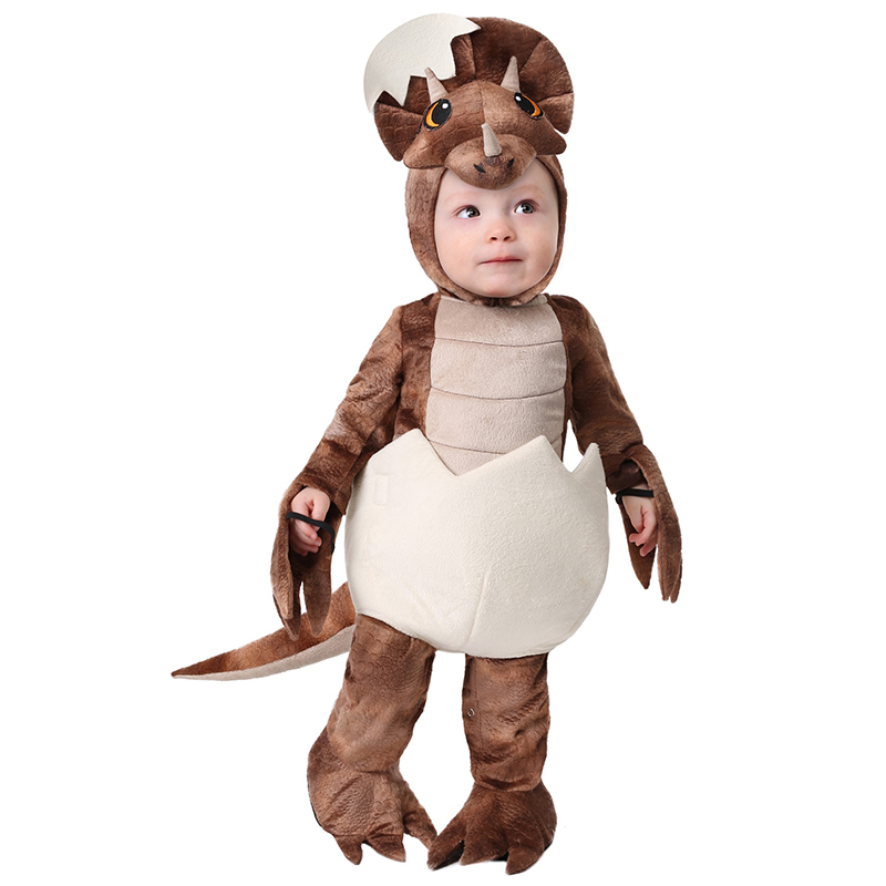 Deluxe Kids Cute Jurassic Animal Tiny Triceratops Halloween Cosplay Carnival Costume