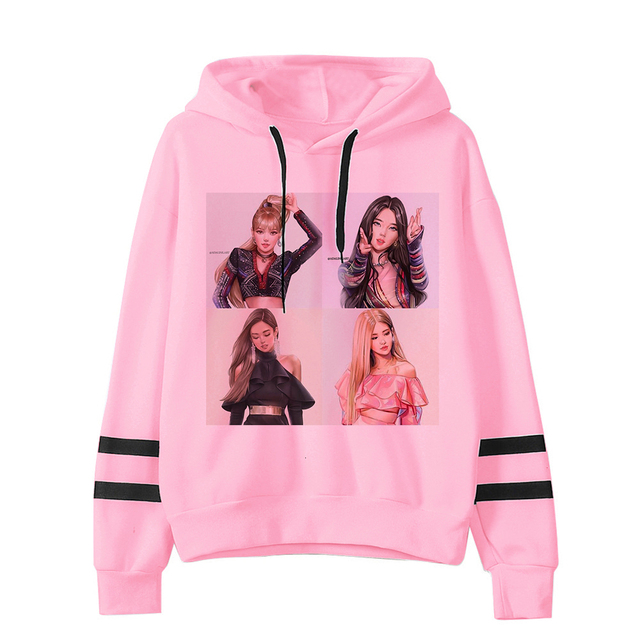 BLACKPINK THEMED STRIPED HOODIE (26 VARIAN)