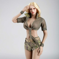 1:6 Cool Refreshing Camouflage Suit for 12inch Phicen Hottoy Action Figure DIY Fire Girl Toys FG024 025 026 Collection Toy