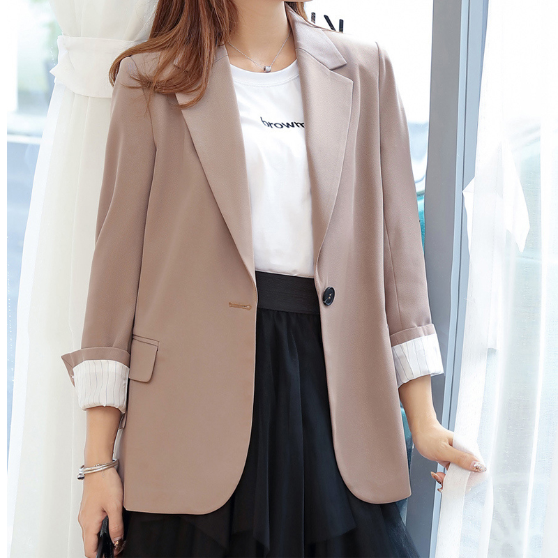 2019 Womens Blazer Spring Long Sleeve Blazers One