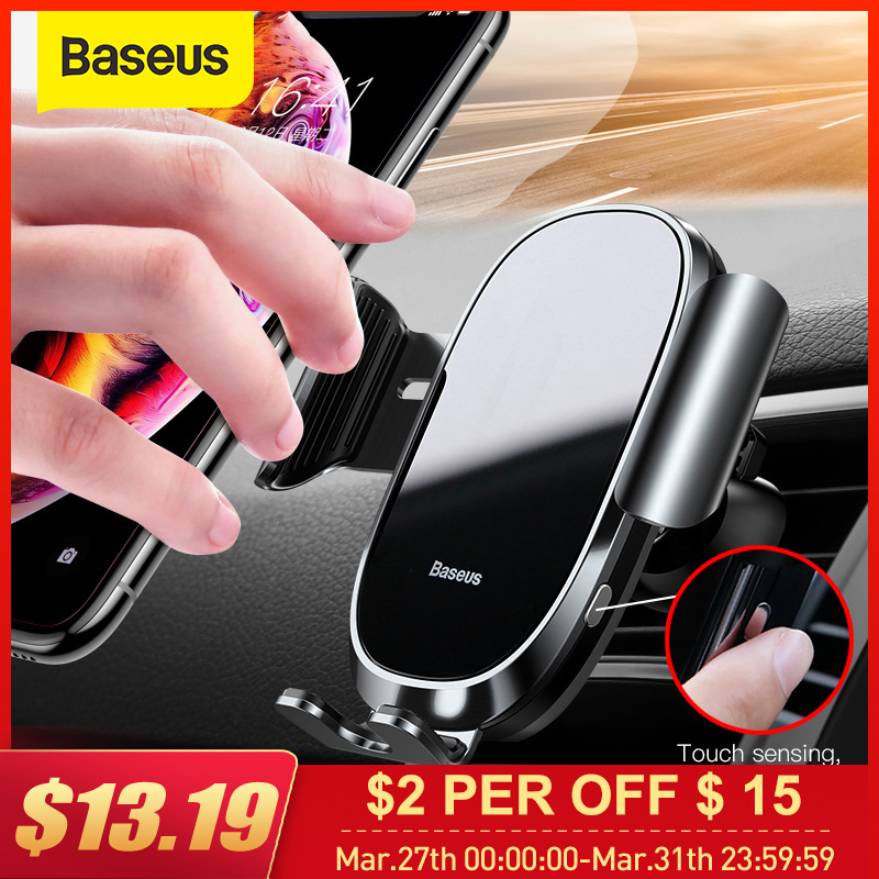 Baseus Auto-locked Car Phone Holder Gravity Sensor Mobile Phone Holder In Car For IPhone Xs Max XR Car Smartphone Support Holder