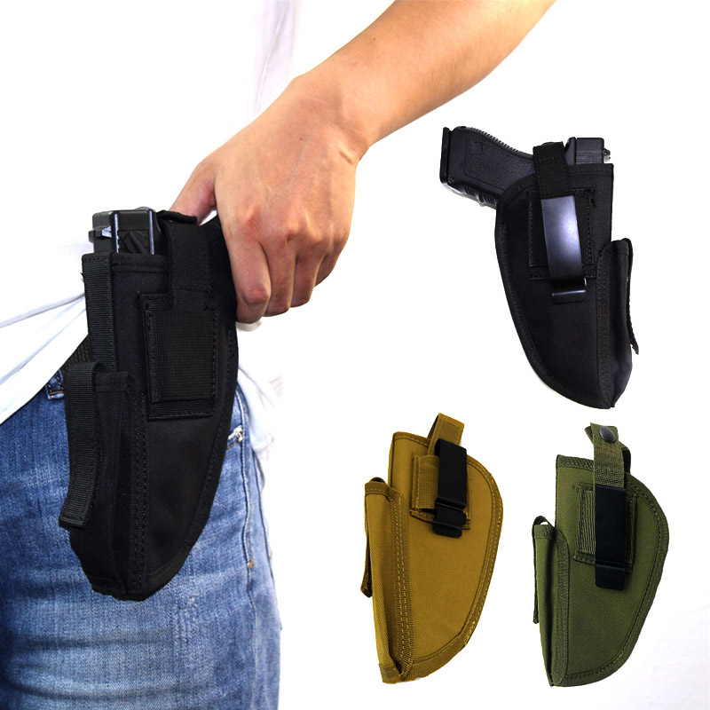 Tactical Airsoft Left/Right Hand Gun Holster Belt Metal Clip Hunting Waist Concealed Carry Gun Case Pistol Holster For Handguns
