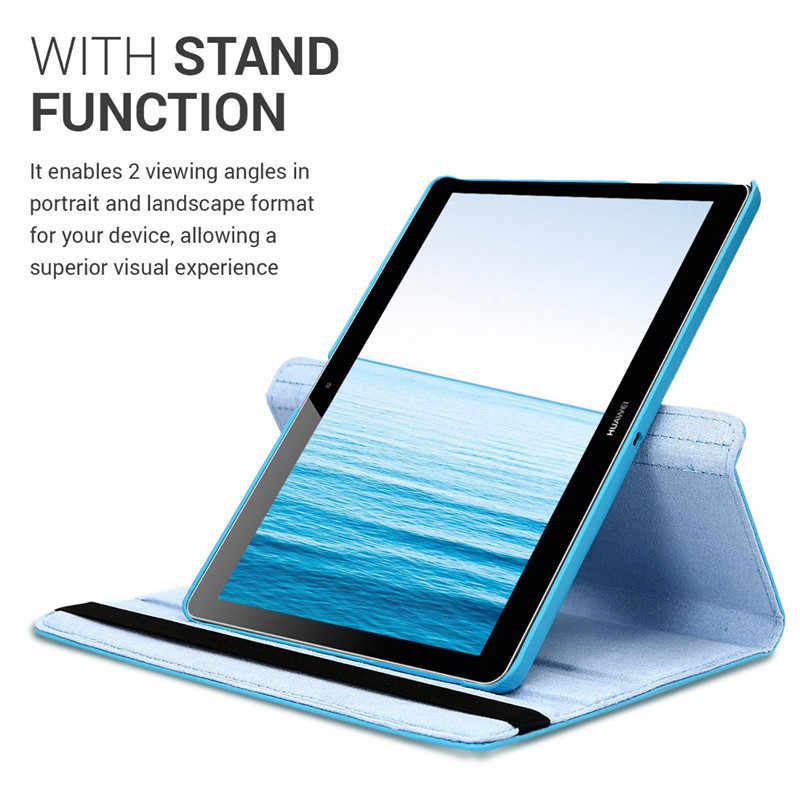 360° Case Compatible with Huawei MediaPad T3 10 9.6inch AGS-L09 Leather Tablet Cover with Stand  AGS-W09/L09/L03 Honor Play Pad