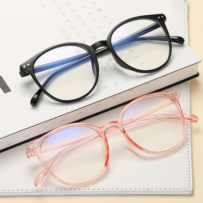 Vintage Transparent Glasses Frame Women Men Anti Blue Light Eyeglasses Frames Clear Lens Myopia Eye Glasses Optical Spectacles
