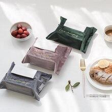 1 ud. Caja de pañuelos de terciopelo con bordado de estilo nórdico, soporte para almacenamiento, funda para sofá de coche, hogar, funda decorativa, Organizador