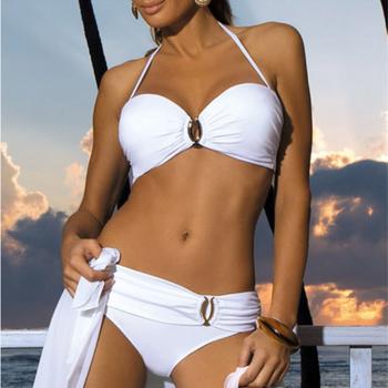 Plus Size Sexy Bikini 2021 New Push Up Swimwear Women Floral Print Bikini Set Swimsuit Bathing Suit Beachwear Biquini Two Piece 1